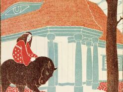 Olustración de libro de Joseph Maria Olbrich y Georgiana Freiin von Rotsmann, Es war einmal, Darmstadt 1904